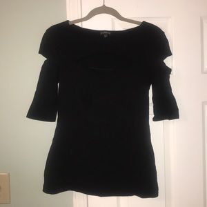 EXPRESS Size M Black Top with Cut-Outs